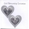 Silver Embossed Civil Partnership Invitation Pk6